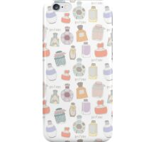 Vintage pattern with perfume bottles iPhone Case/Skin