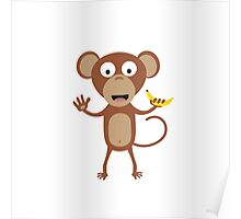 monkey with banana  Poster