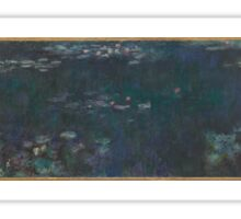 Claude Monet - The Water Lilies - Green Reflections  Impressionism. Sticker