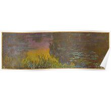 Claude Monet - The Water Lilies - Setting Sun (1915 - 1926) Poster