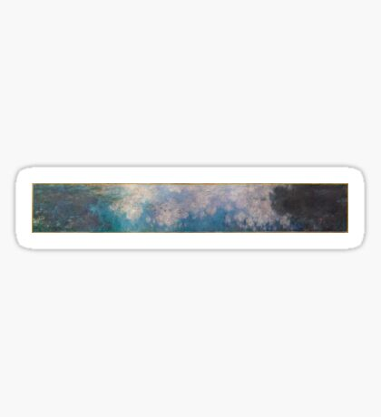 Claude Monet - The Water Lilies - The Clouds (1915 - 1926)  Impressionism Sticker