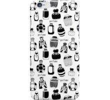Vintage pattern with black perfume bottles iPhone Case/Skin