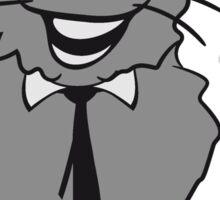 nerd geek hornbrille tie clever funny Sticker