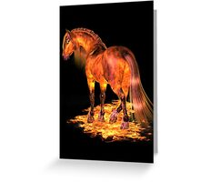 The Fire Stallion Greeting Card