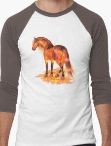 The Fire Stallion Men's Baseball ¾ T-Shirt
