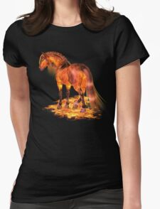 The Fire Stallion Womens Fitted T-Shirt