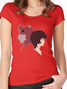 The Boy and the Beast - Kyuta and Kumatetsu Women's Fitted Scoop T-Shirt