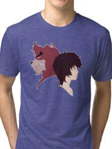 The Boy and the Beast - Kyuta and Kumatetsu Tri-blend T-Shirt