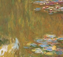 Claude Monet - The Water-lily Pond (1914-1917) Impressionism Sticker