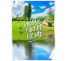 Home Sweet Home Pastoral Versailles Chateau Country Landscape Poster