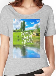 Home Sweet Home Pastoral Versailles Chateau Country Landscape Women's Relaxed Fit T-Shirt