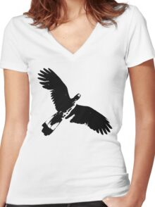 Messenger from The Universe  Women's Fitted V-Neck T-Shirt