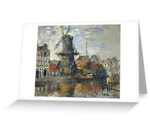 Claude Monet - The Windmill on the Onbekende Gracht  Amsterdam Greeting Card