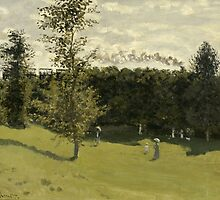 Claude Monet - Train in the Countryside (circa 1870) by famousartworks