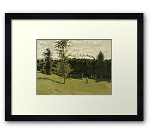 Claude Monet - Train in the Countryside , Impressionism Framed Print