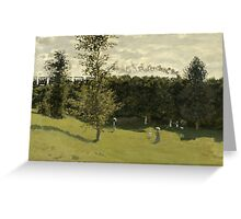 Claude Monet - Train in the Countryside , Impressionism Greeting Card