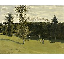 Claude Monet - Train in the Countryside (circa 1870) Photographic Print