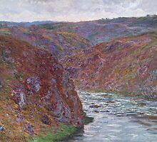 Claude Monet - Valley of the Creuse (Gray Day) (1889) by famousartworks
