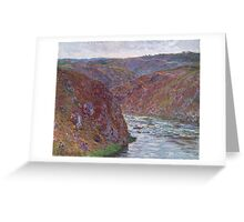 Claude Monet - Valley of the Creuse ,Gray Day , Impressionism Greeting Card