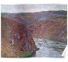 Claude Monet - Valley of the Creuse (Gray Day) (1889) Poster