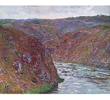 Claude Monet - Valley of the Creuse ,Gray Day , Impressionism Photographic Print