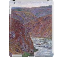 Claude Monet - Valley of the Creuse (Gray Day) (1889) iPad Case/Skin