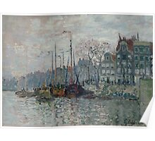 Claude Monet - View of the Prins Hendrikkade and the Kromme Waal in Amsterdam 1874  Impressionism Poster