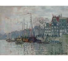 Claude Monet - View of the Prins Hendrikkade and the Kromme Waal in Amsterdam 1874 Photographic Print