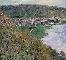 Claude Monet - View of Vetheuil (1880) by famousartworks