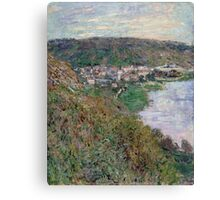 Claude Monet - View of Vetheuil (1880) Canvas Print