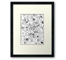 Ideas - Light Bulbs Framed Print