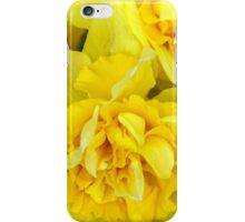 Yellow daffodils macro iPhone Case/Skin