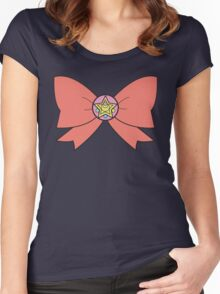 Sailor ribbon - power of moon Women's Fitted Scoop T-Shirt