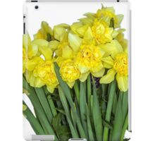 Yellow narcissus in white iPad Case/Skin