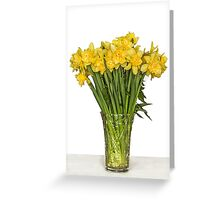 Yellow narcissus in vase Greeting Card