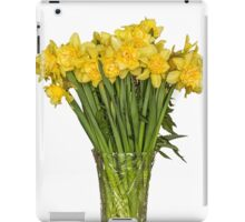 Yellow narcissus in vase iPad Case/Skin