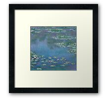 Claude Monet - Water Lilies (1906)  Impressionism Framed Print