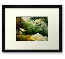 Cave Pool (Plasma Agate) Framed Print