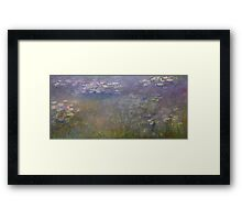 Claude Monet - Water Lilies (1915 - 1926)  Impressionism Framed Print