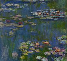 Claude Monet - Water Lilies (1916) by famousartworks