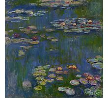 Claude Monet - Water Lilies (1916)  Impressionism Photographic Print