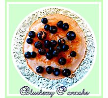Blueberry Pancake Photographic Print