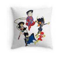 Team DC Throw Pillow