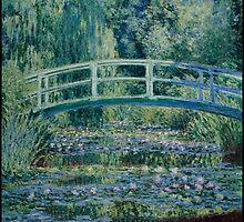 Claude Monet - Water Lilies and Japanese Bridge (1899) by famousartworks
