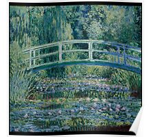 Claude Monet - Water Lilies and Japanese Bridge (1899)  Impressionism Poster