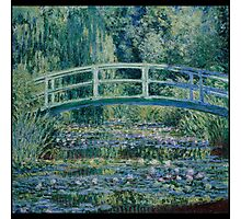 Claude Monet - Water Lilies and Japanese Bridge (1899) Photographic Print