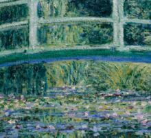 Claude Monet - Water Lilies and Japanese Bridge (1899)  Impressionism Sticker