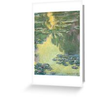 Claude Monet - Waterlilies (1907)  Impressionism Greeting Card