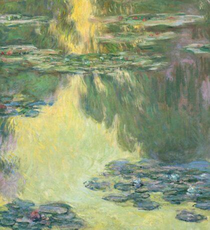 Claude Monet - Waterlilies (1907)  Impressionism Sticker