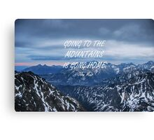 Going to the mountains 8 Canvas Print